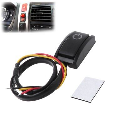 Car DIY Push Button Latching Turn ON OFF Switch LED Light DC12V/200mA 2.4W