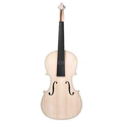 DIY 4/4 Full Size Natural Solid Wood Acoustic Violin Fiddle Kit Spruce Top M9P2