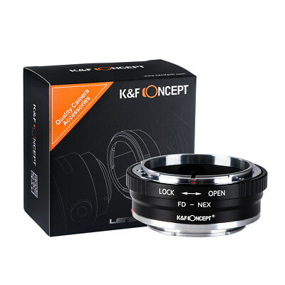 K&F Concept Adapter mark II for Canon FD Lens to Sony E-Mount Camera NEX a7R3 a9