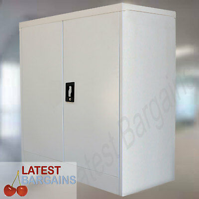 Steel Storage Cabinet Locker Office Garage File Stationery Cupboard Furniture