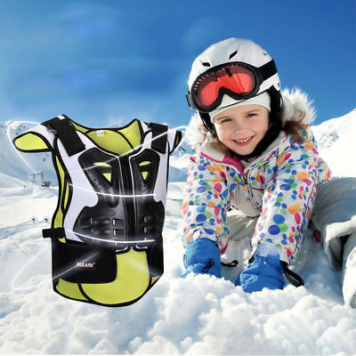 Kids Body Chest Spine Protector Armor Vest Protective Gear Kids Skiing Sports a