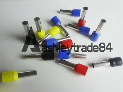 1000 × Blue 16AWG Cable Pre-Insulated Ferrules Terminal Wiring Connectors E1508