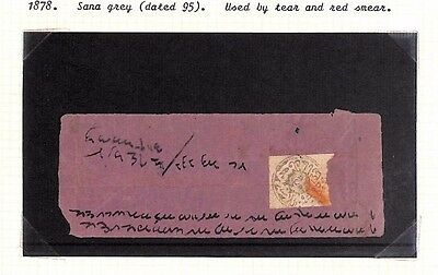 Ap60 Asia 1878 AFGHANISTAN Primitive Issue Cover & 1920 Issue Stamp/Album Page