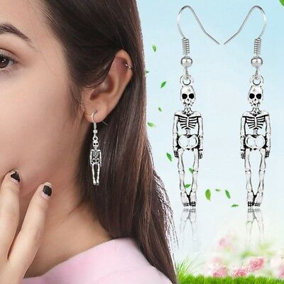 HALLOWEEN Skeleton Skull Stud Earrings Antique Vintage Punk Earrings Jewelry New