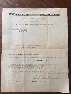 1950 Aylsham Road North Walsham Buildings of Architectural Interest Letter