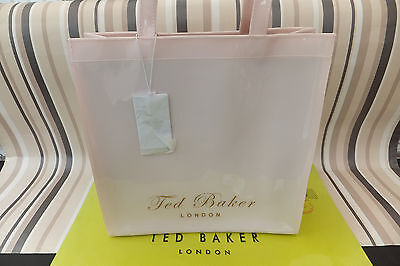 3053d52f45979 TED BAKER LADIES ROYCON Cotton Print Icon Bag LARGE Nude Pink Pvc ...