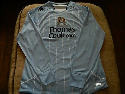MANCHESTER CITY  Le Coq Sportif THOMAS COOK 07/08 LONG SLEEVE SHIRT XL