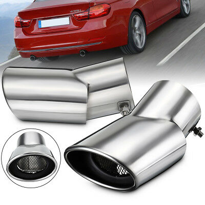 2xStainless Steel Exhaust Muffler Tail Pipe Oval Tip For Range Rover Sport 02-10