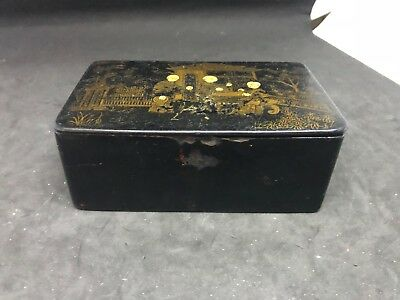 Antique Meiji Japanese Lacquered Box #2