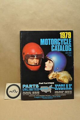 Vtg 1979 Motorcycle Parts Unlimited KRW Helmet Goggles Accessories Catalog Book