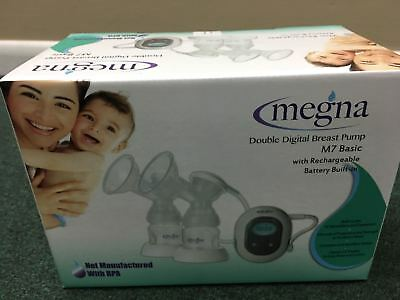 Megna Double Breast Pump M7 Basic with Rechargeble Battery Built-in ,** NEW**