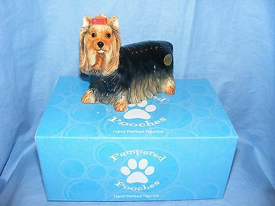 John Beswick Dog Yorkshire Terrier JBPP4  Pampered Pooches NEW Present Gift