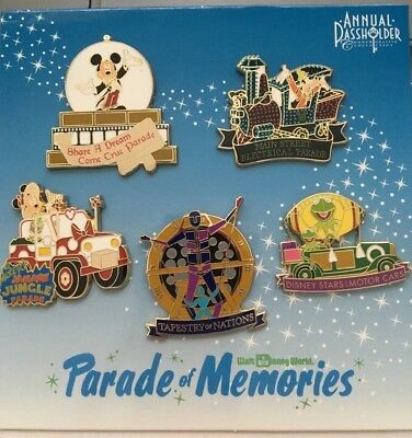 New Walt Disney World 2015 Annual Passholder Parade of Memories 5 Pins