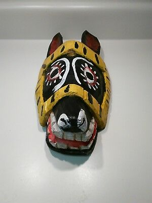 Wooden Mask Handcrafted Donkey Face