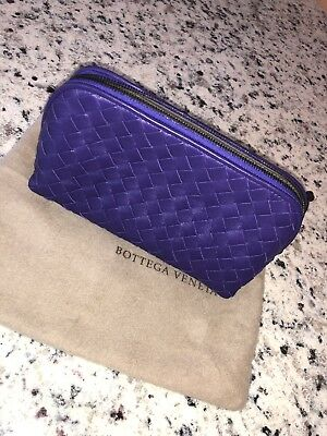 30f98ad115b4 AUTHENTIC BOTTEGA VENETA Cosmetic Pouch Bag, NWOT, Purple