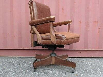 Gunlocke Rolling Office chair - Low Back JFK Chair!