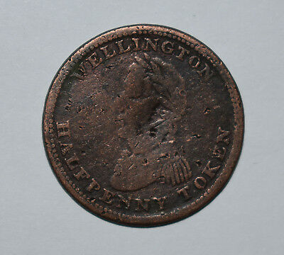 21. Lower Canada World Coin / Token Wellington Half Penny 1814 / We - 141