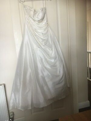 used ivory wedding dress size 14