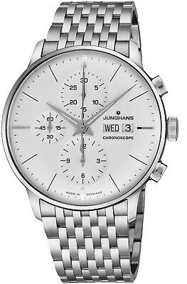 Junghans Men's Meister Chronoscope Steel Day Date Self-Winding Watch 027/4121.45