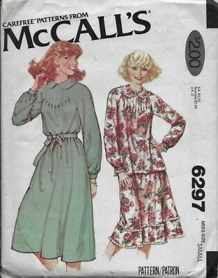 VTG 70's McCall's Sewing Pattern Misses' DRESS or TOP & SKIRT sz 10-12