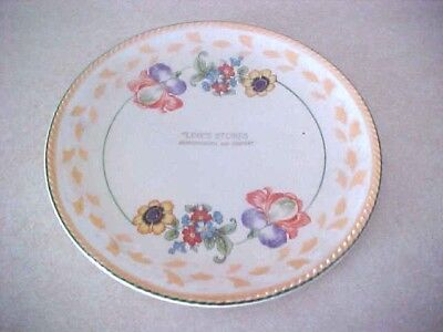 "Antique Plate Advertising ""line's Stores Huntingburg And Jasper"" (Indiana)"