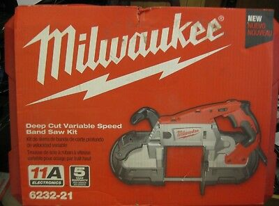 Milwaukee 6232-21 Portable Deep Cut Variable Speed Band Saw Kit NEW. SHIPS FREE