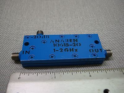 ANAREN 10615-20  -20dB COUPLER / ISOLATOR 1-2 GHz SMA-FEMALE CONNECTORS USED