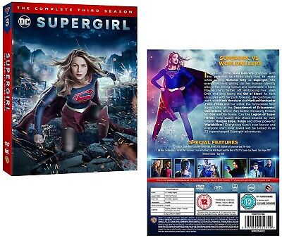 SUPERGIRL 3 2017-2018: DC Superhero Action TV Season Series - NEW R2 DVD not US