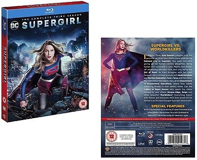 SUPERGIRL 3 2017-2018: DC Superhero Action TV Season Series - NEW RgFree BLU-RAY