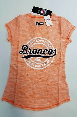 a9ce96c46 NWT Justice Kids Girls Size 7 16 or 18 Denver Broncos Football Top Shirt