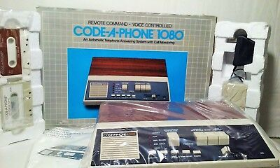 Vtg Code A Phone 1080 remote command telephone answering machine system NEW