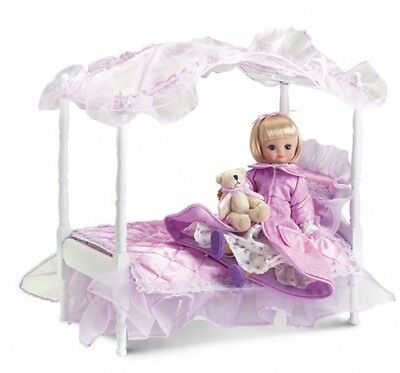 LE TONNER TINY BETSY McCall Lilac Canopy BED SET: Bed, Linens Teddy Bear NO DOLL
