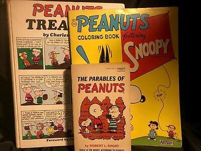 Peanuts Treasury by Charles M. Schulz Charlie Brown & Parables of Peanuts PLUS!!