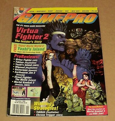 ".. Game Pro Video Game Magazine .. 194 Pages .. ""November 1995 Back Issue"""