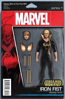 Powerman and Iron Fist 1 Action Figure variant covers both 2 books LOT