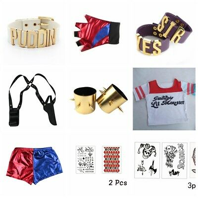 New Harley Quinn Cosplay Suicide Squad Joker Costume Halloween Party Accessory