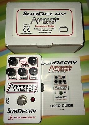 Subdecay Anamnesis Echo Modulated Delay Pedal