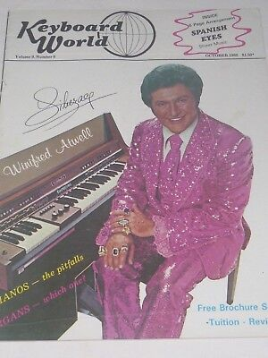 Keyboard World Magazine LIBERACE Cover Vol 9: No 6  October 1980 *RARE*