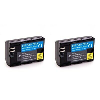 2x LP-E6 LPE6 Camera Battery for Canon EOS 5D Mark II III 5DS 6D 7D II 60D 70D