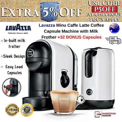 Italian Espresso Coffee Machine Maker Automatic Milk Frother FREE Pods Capsules