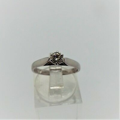 18Ct White Gold Solitaire Diamond Ring Valued @$1654 Comes With Valuation