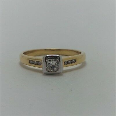 18ct YELLOW GOLD DIAMOND ENGAGEMENT RING VALUED @$2508 COMES WITH VALUATION