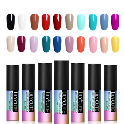 5ml Nail Art Vernis à Ongles Semi-permanent UV Gel Polish Manucure DIY LILYCUTE