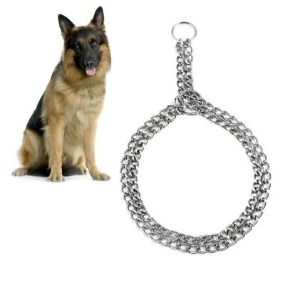 Pet Dog Pet Choke Chain Necklace Choker Collar Strong Stainless Steel Training