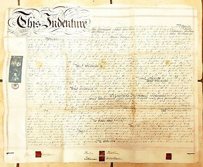 1878 Vellum Indenture Revd Woolam, Yark Hill for Land, New Richmond Road, Fulham