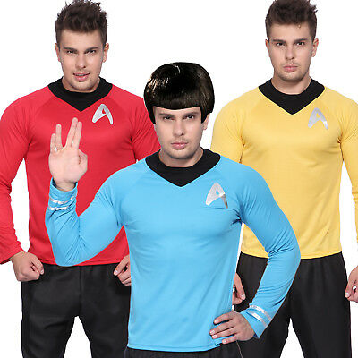 Männer Kostüm Kirk Spock Scotty Crew Film STAR TREK Dienstuniform Tunic Shirt