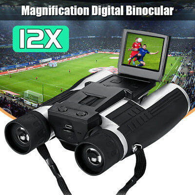 12x32 HD Digital Binoculars Telescope Folding & Built-in Digital Camera DV LCD