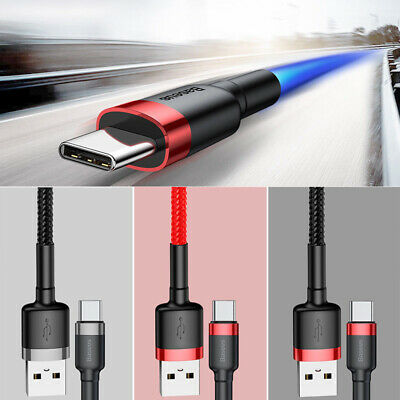 Baseus USB Type C Cable Quick Charge QC3.0 USB-C Charging Phone Data Cable