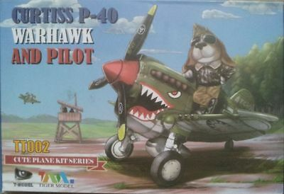 Tiger Model TT002 Curtiss P-40 Warhawk and Pilot Egg-Plane