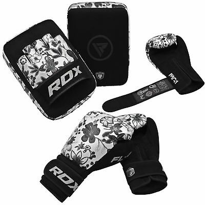RDX Ladies Focus Pads Women's MMA Hook and Jab Kick Boxing Gloves Set Bag Mitts